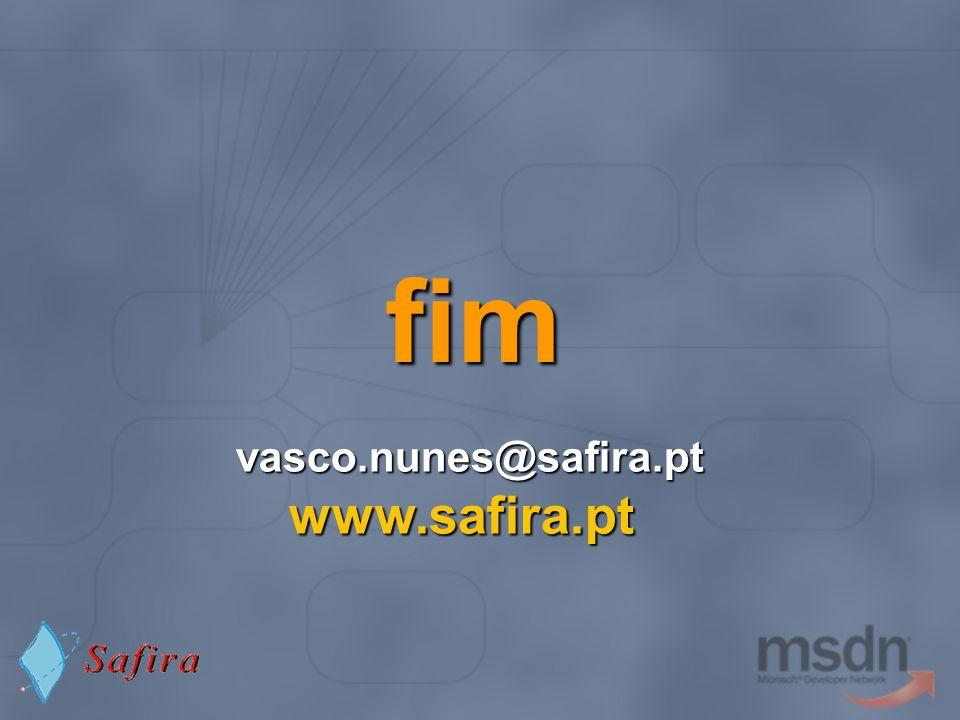 fim vasco.nunes@safira.pt www.safira.pt