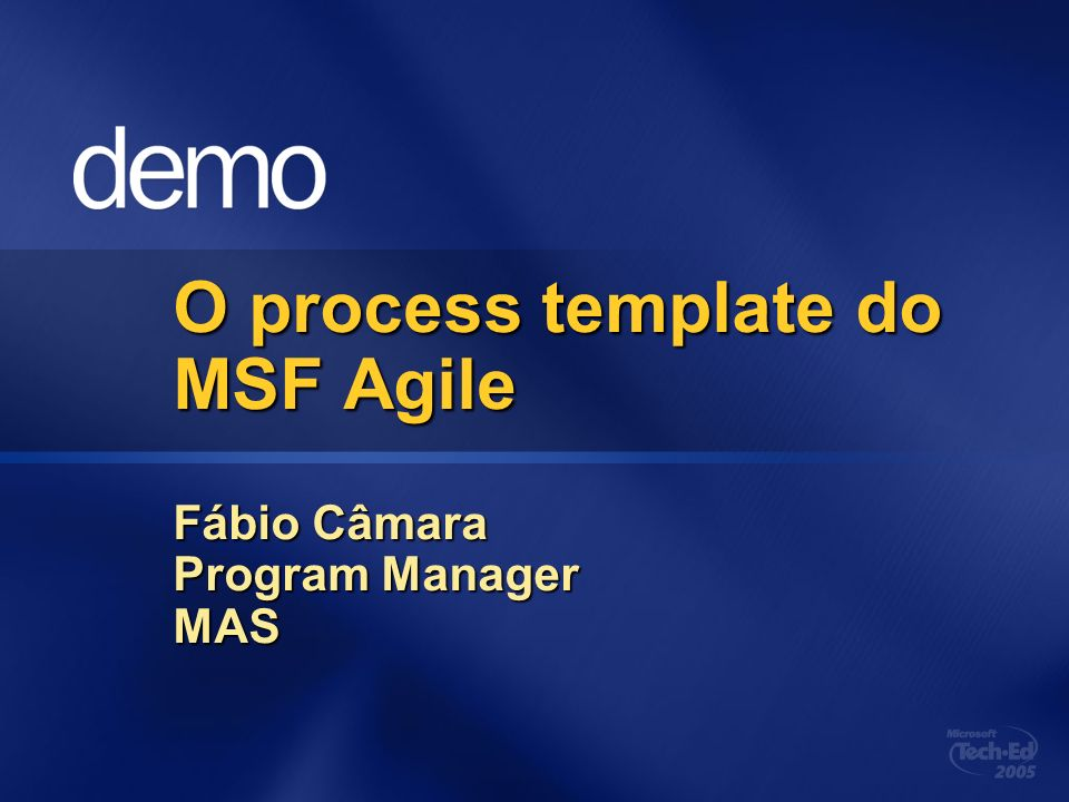 O process template do MSF Agile