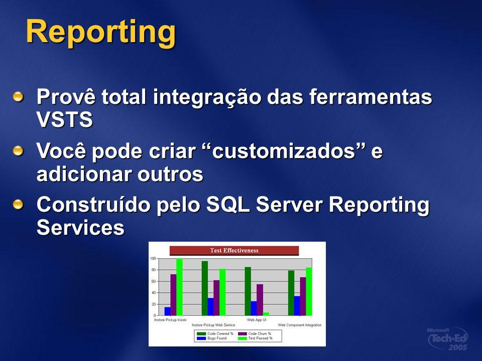 Reporting Provê total integração das ferramentas VSTS