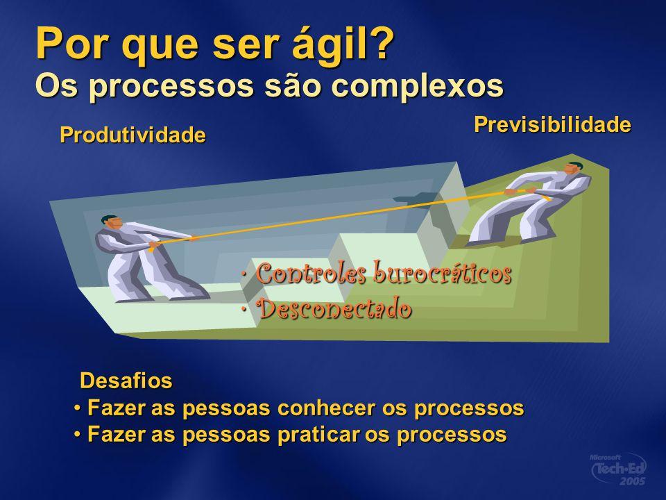 Por que ser ágil Os processos são complexos