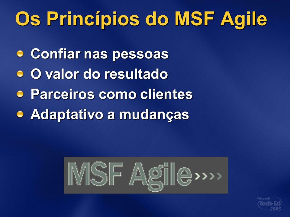 Os Princípios do MSF Agile