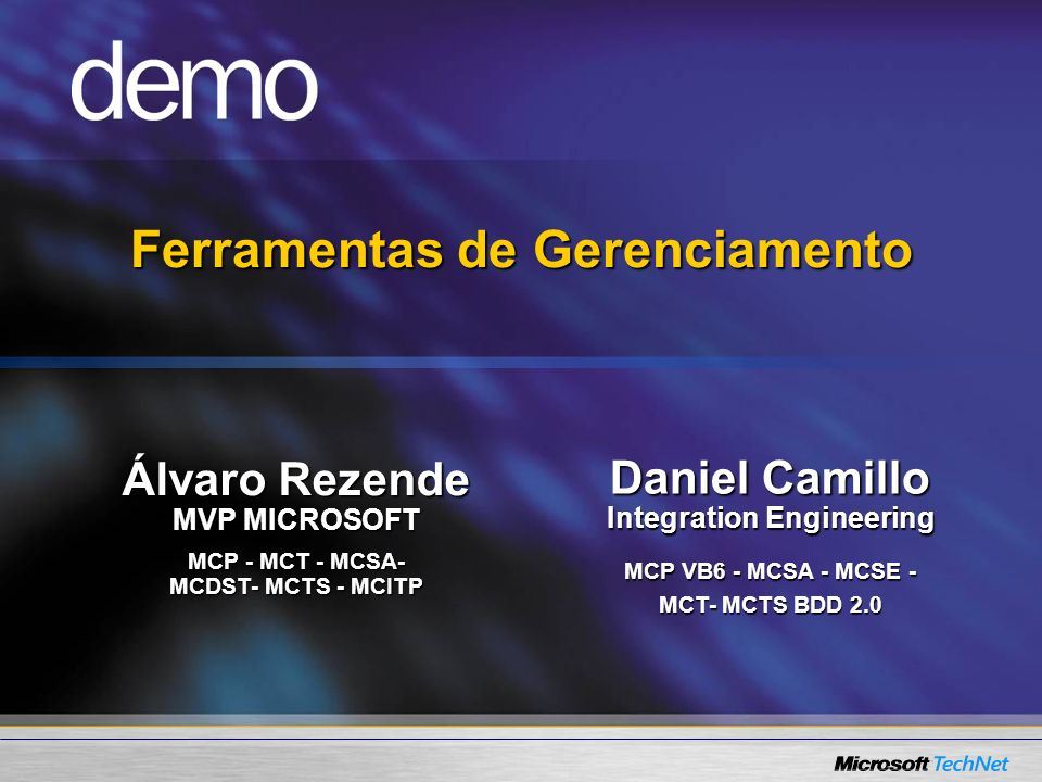 Ferramentas de Gerenciamento Integration Engineering