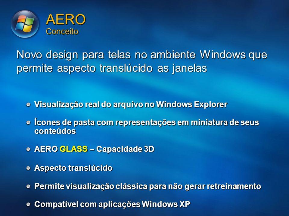 MGB 20053/24/2017 7:56 AM. AERO Conceito. Novo design para telas no ambiente Windows que permite aspecto translúcido as janelas.