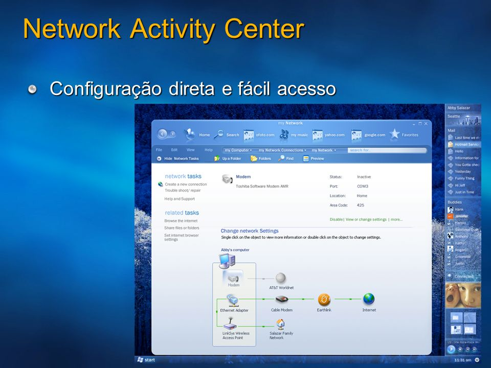 Network Activity Center