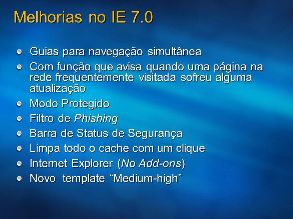 Melhorias no IE 7.0 Guias para navegação simultânea