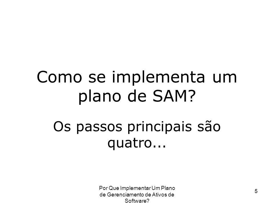 Como se implementa um plano de SAM