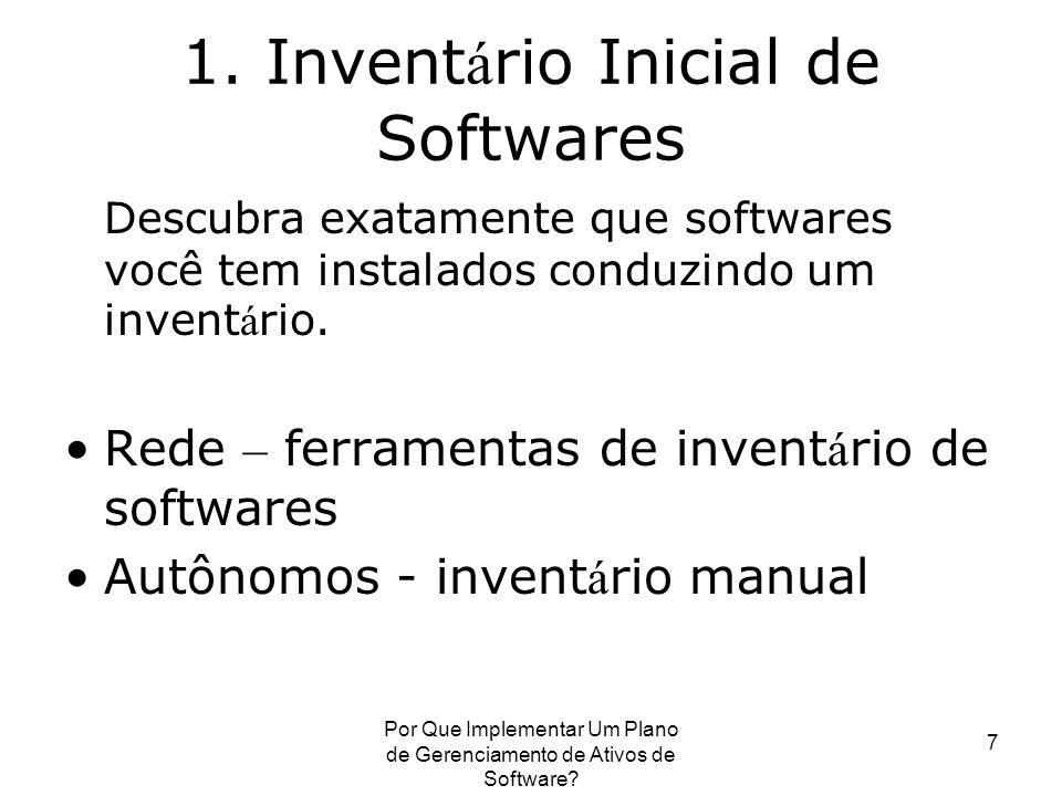 1. Inventário Inicial de Softwares