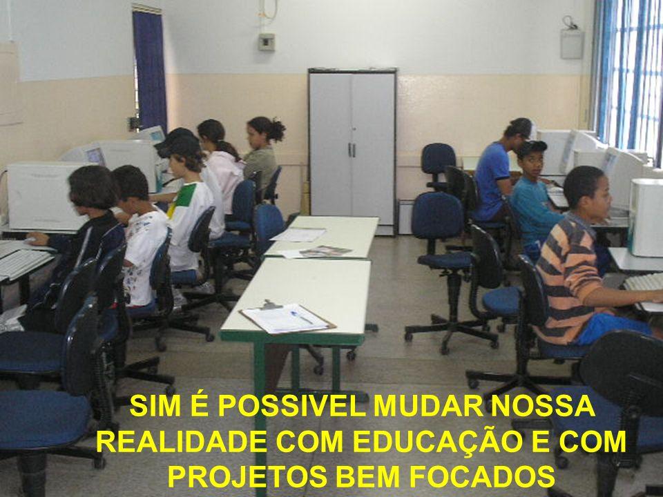 SIM É POSSIVEL MUDAR NOSSA REALIDADE COM EDUCAÇÃO E COM PROJETOS BEM FOCADOS