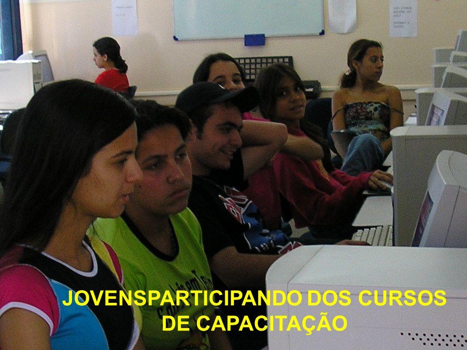 JOVENSPARTICIPANDO DOS CURSOS DE CAPACITAÇÃO