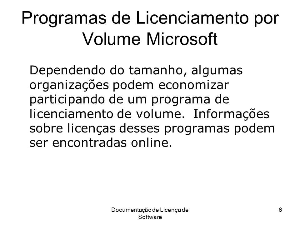 Programas de Licenciamento por Volume Microsoft