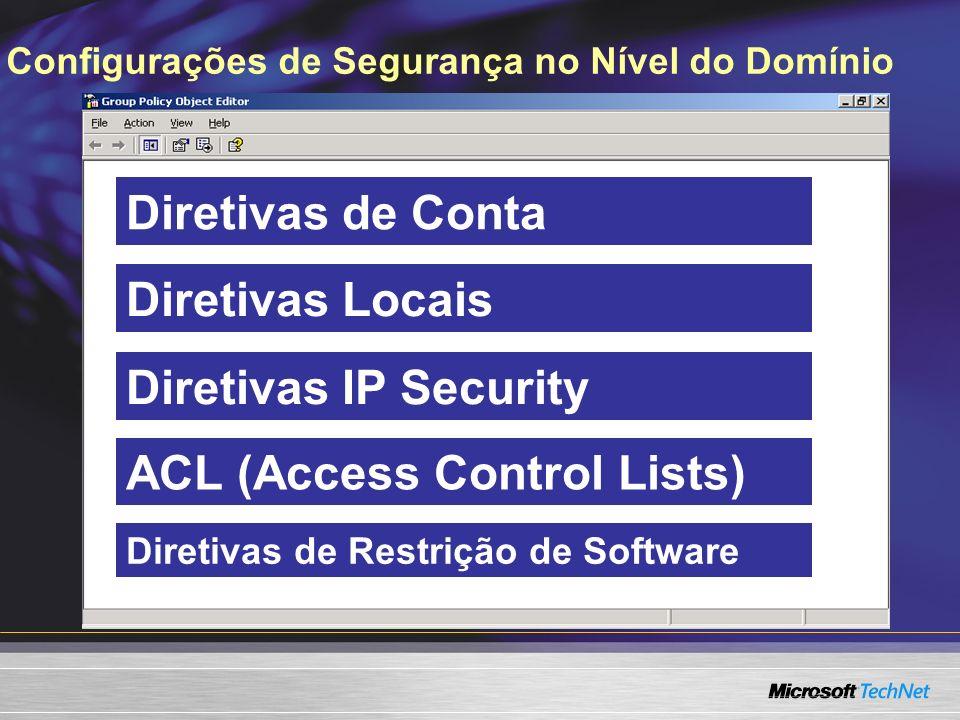 Configurações de Segurança no Nível do Domínio