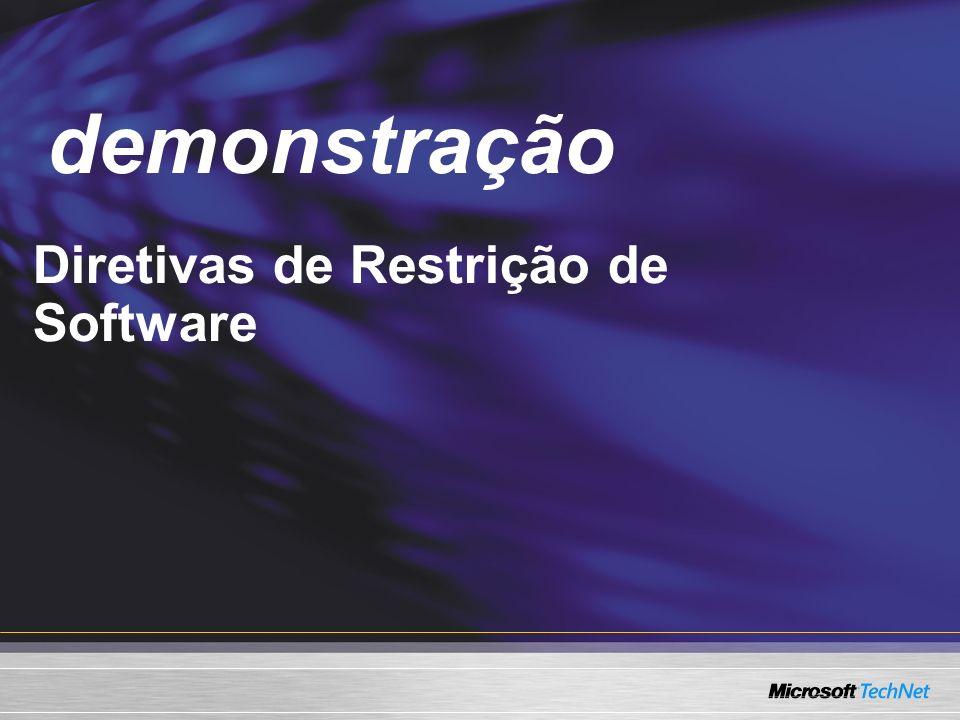 demonstração Demo Diretivas de Restrição de Software
