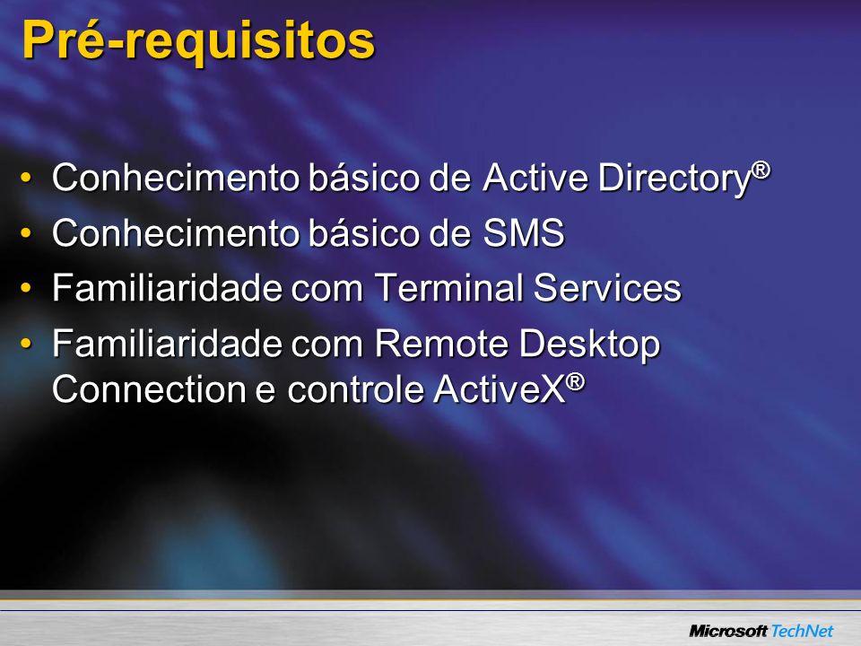 Pré-requisitos Conhecimento básico de Active Directory®