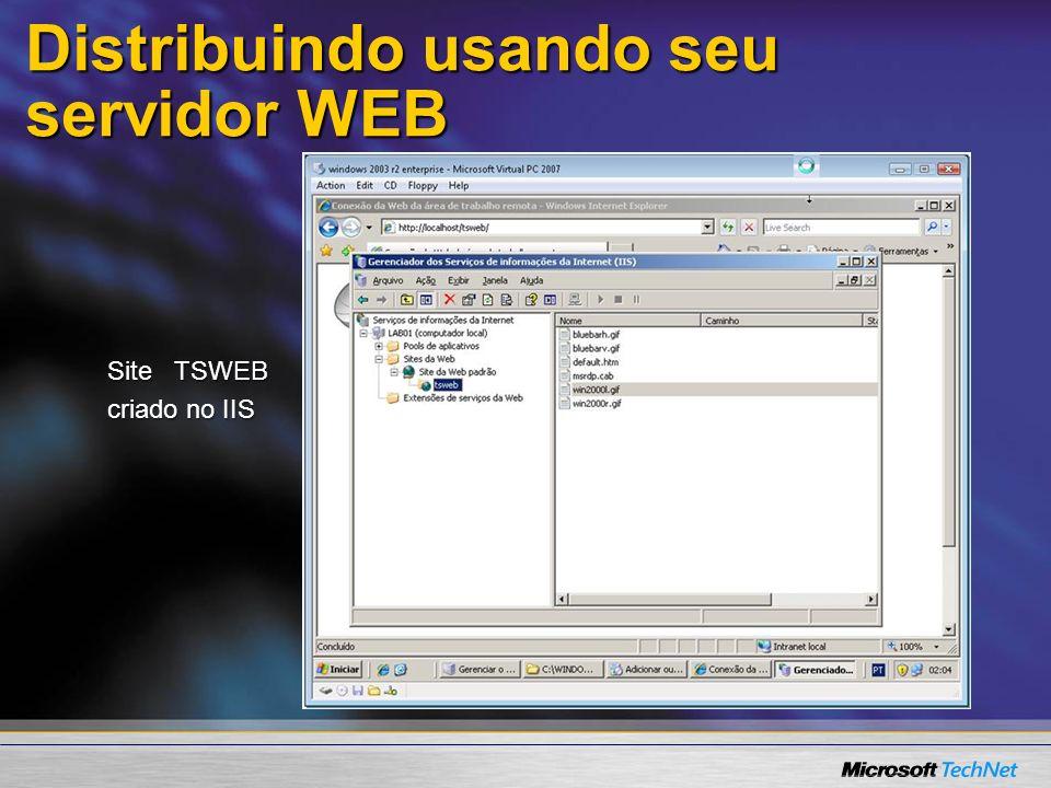 Distribuindo usando seu servidor WEB