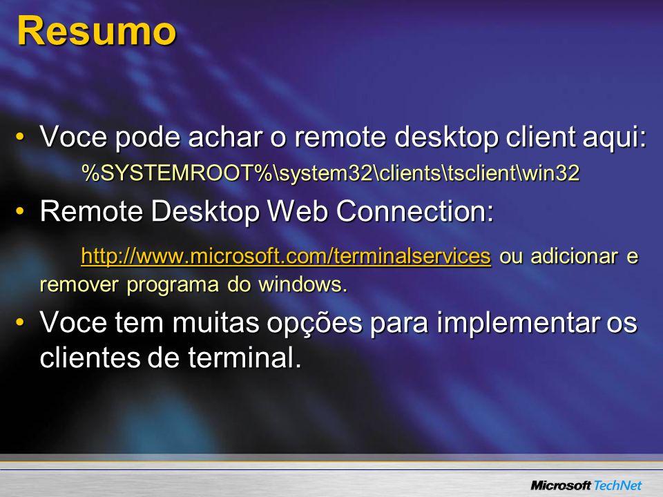 Resumo Voce pode achar o remote desktop client aqui: