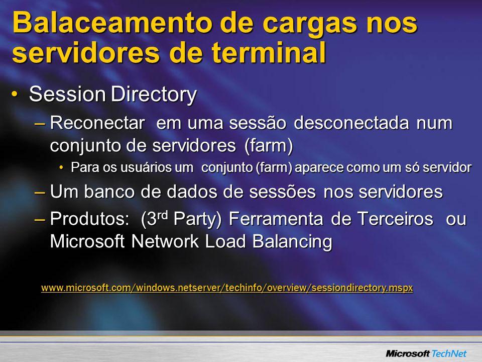 Balaceamento de cargas nos servidores de terminal