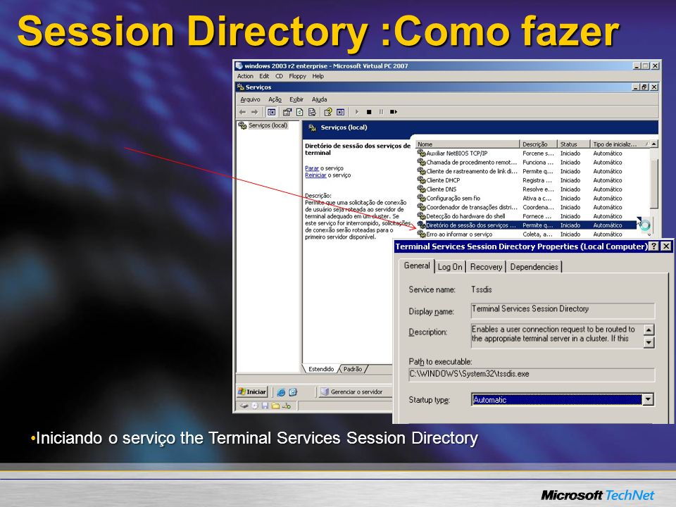 Session Directory :Como fazer
