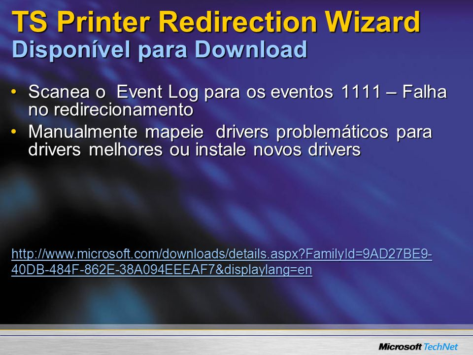 TS Printer Redirection Wizard Disponível para Download