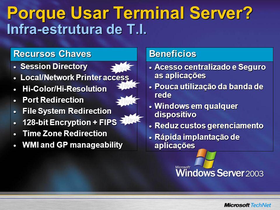 Porque Usar Terminal Server Infra-estrutura de T.I.