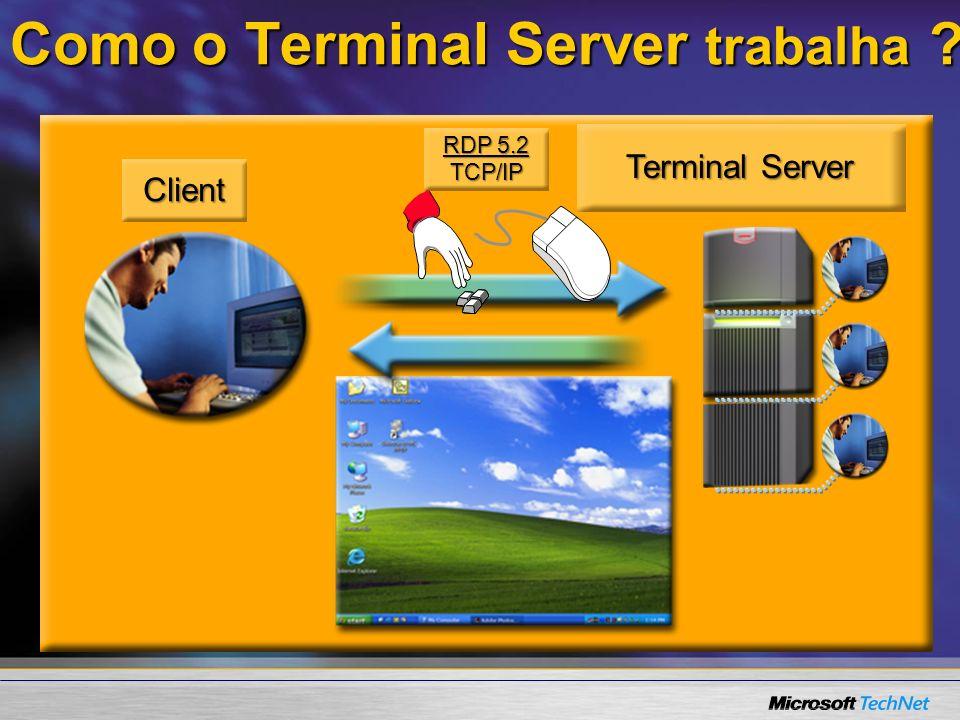 Como o Terminal Server trabalha