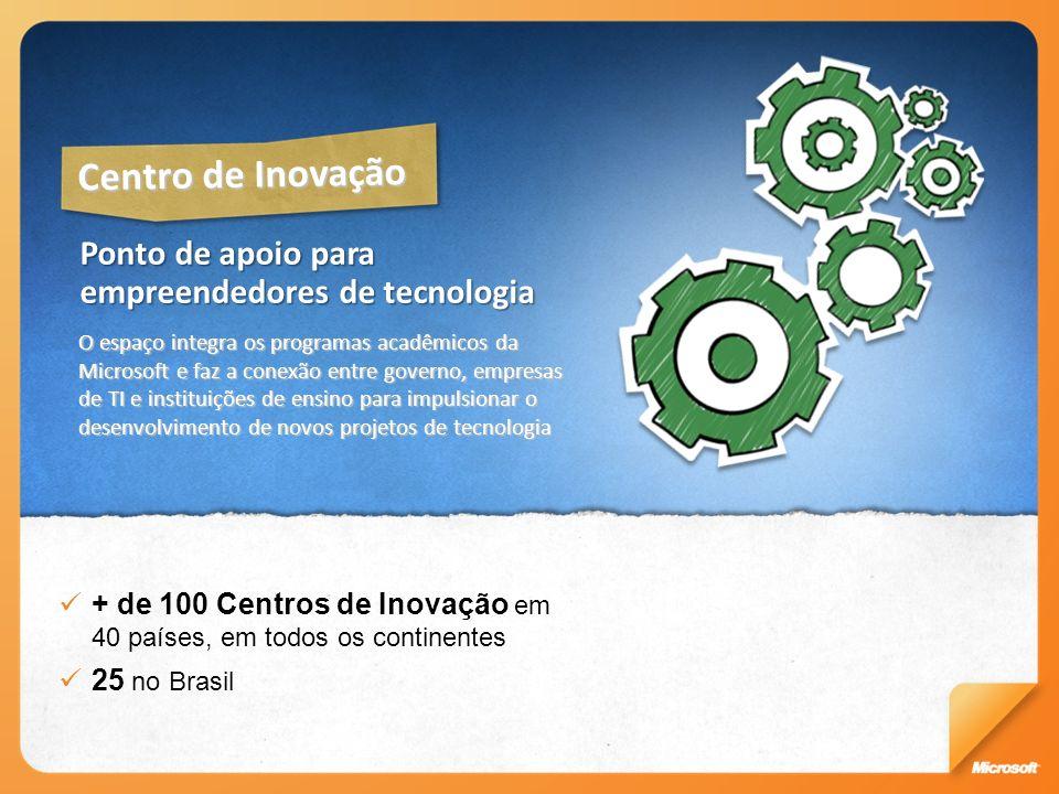 Centro de Inovação Ponto de apoio para empreendedores de tecnologia