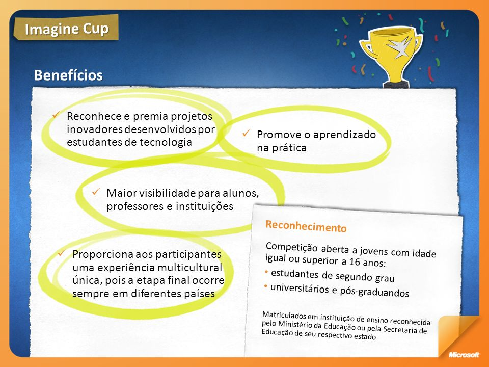 Imagine Cup Benefícios