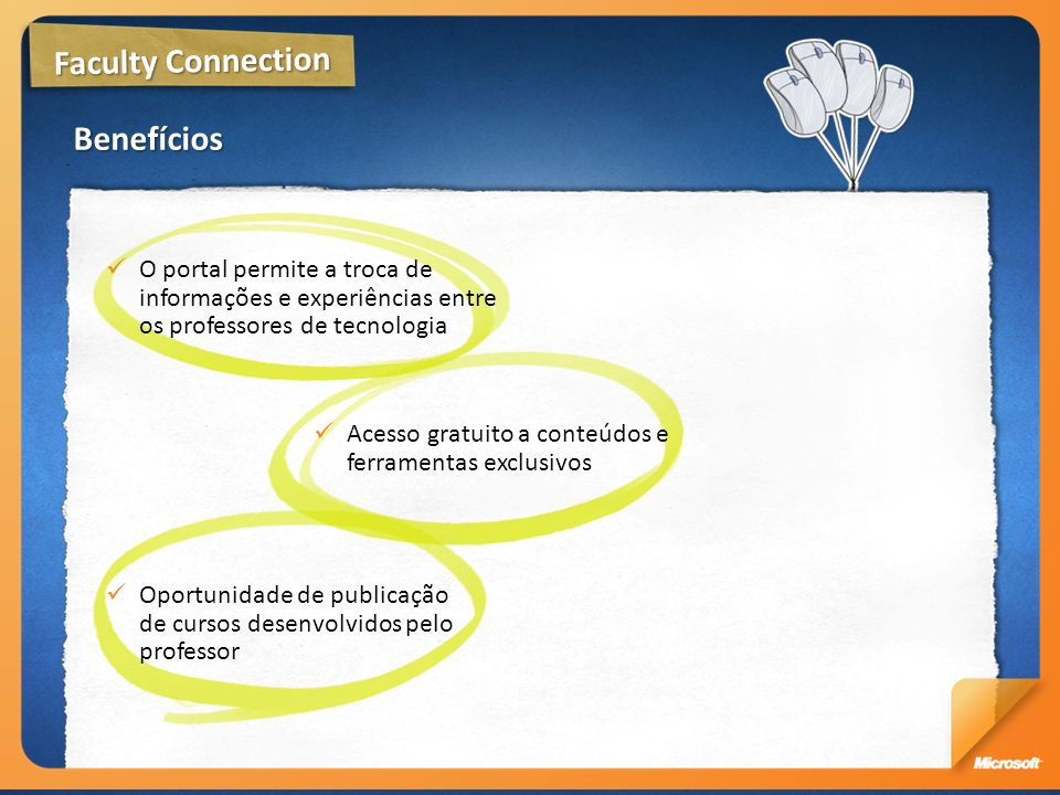 Faculty Connection Benefícios