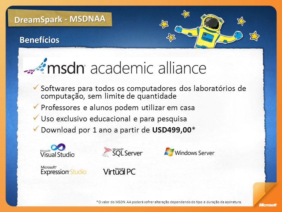 DreamSpark - MSDNAA Benefícios