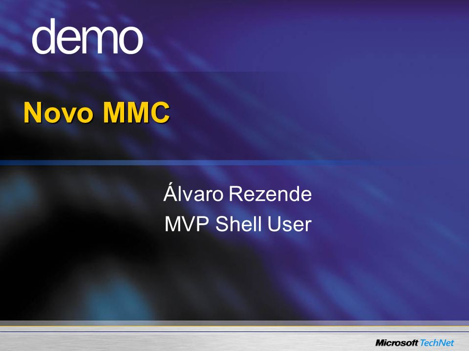 Novo MMC Álvaro Rezende MVP Shell User