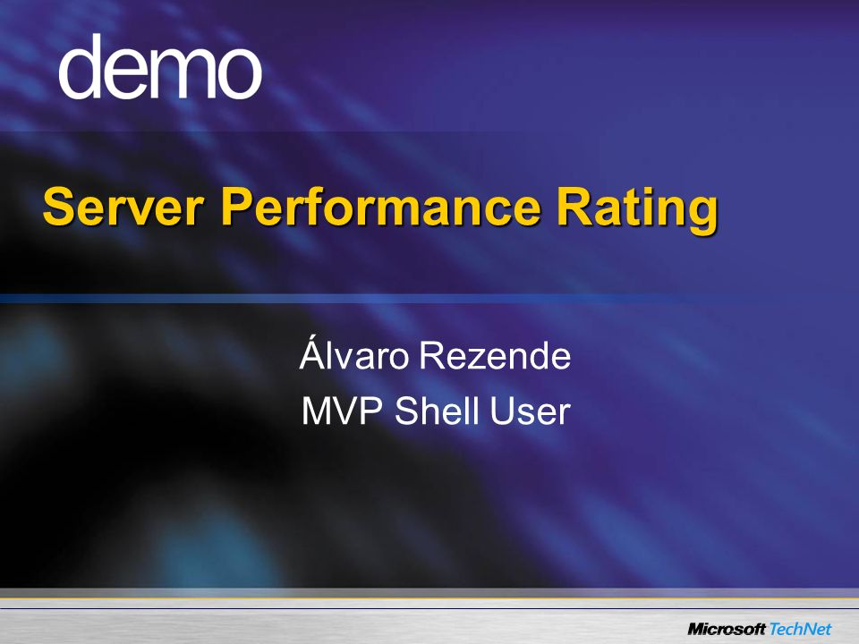 Server Performance Rating
