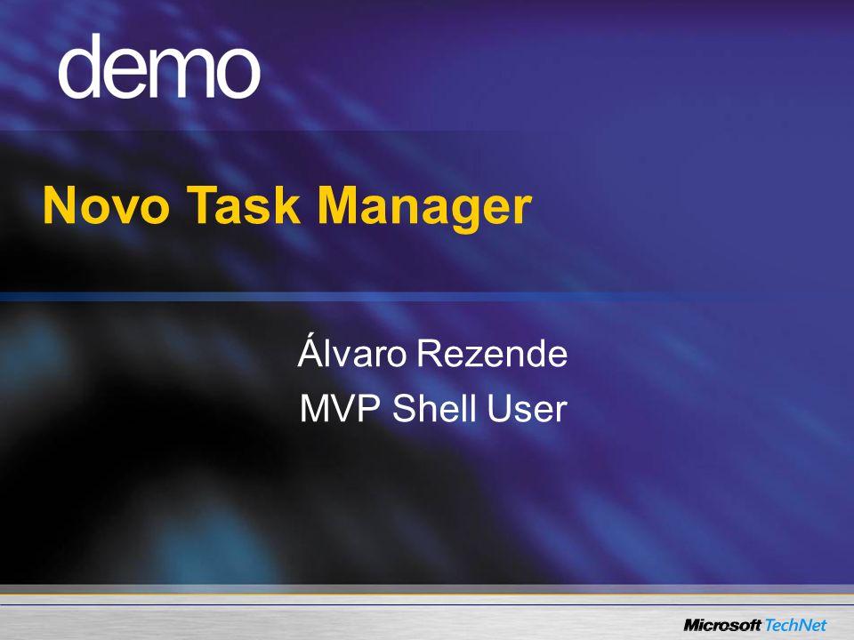 Novo Task Manager Álvaro Rezende MVP Shell User