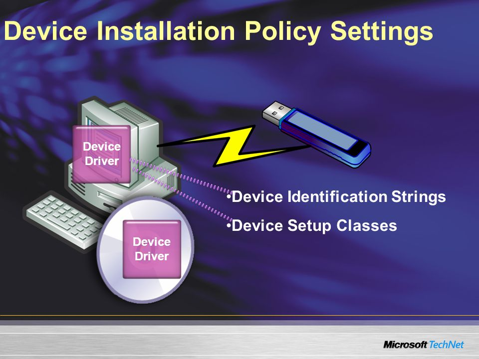 Device Installation Policy Settings