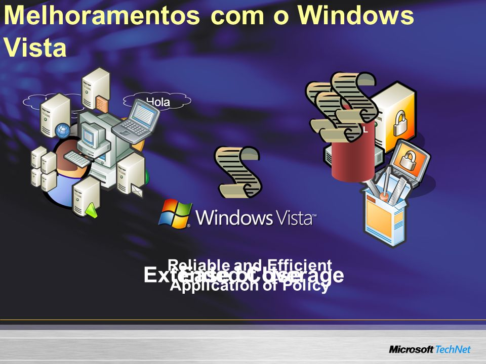 Melhoramentos com o Windows Vista