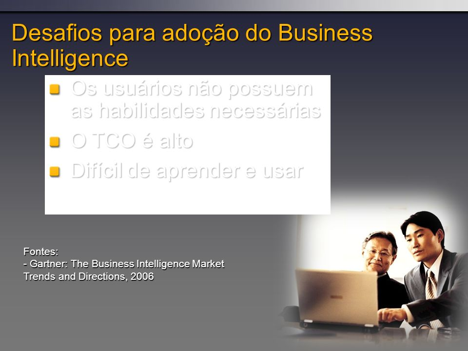 Desafios para adoção do Business Intelligence