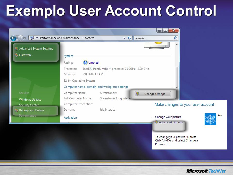 Exemplo User Account Control