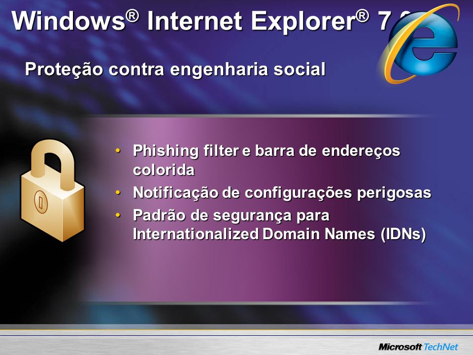 Windows® Internet Explorer® 7.0
