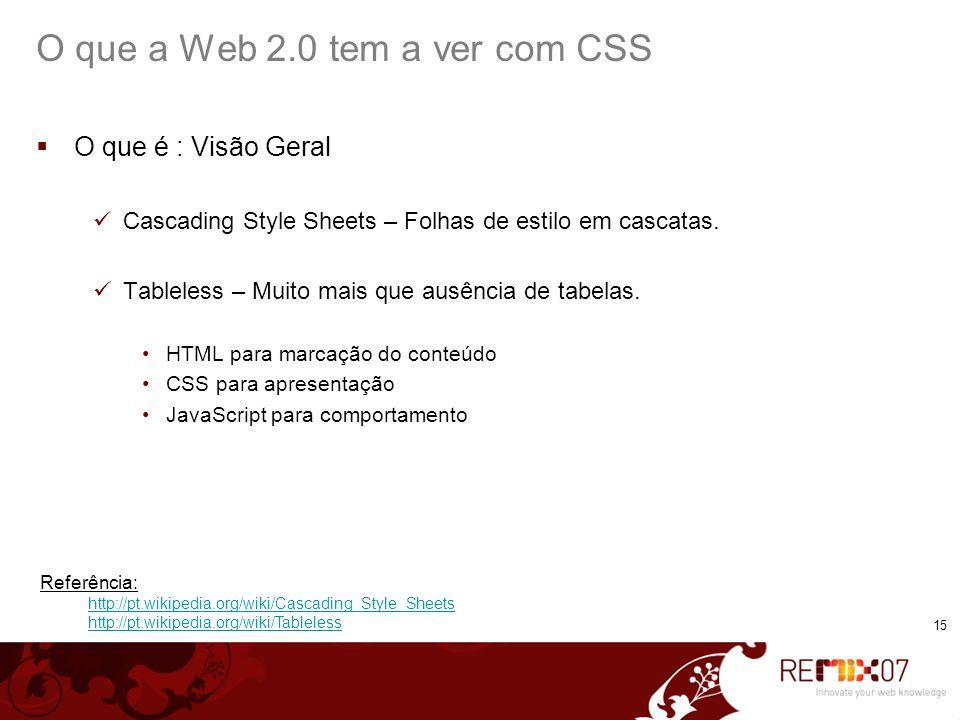 O que a Web 2.0 tem a ver com CSS