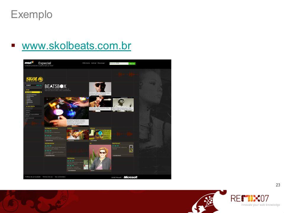 Exemplo www.skolbeats.com.br 23 23