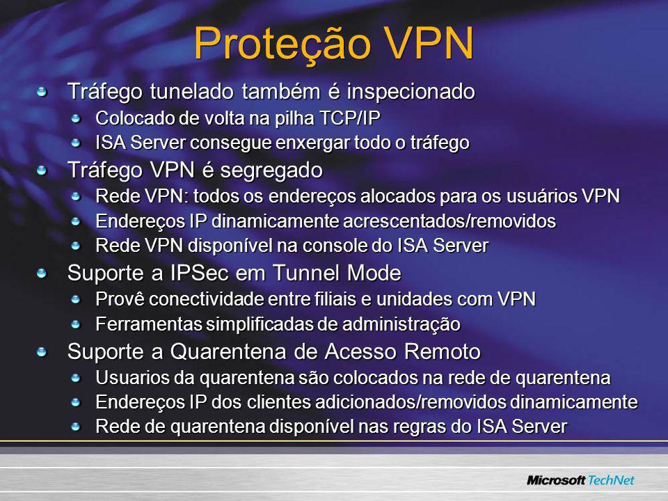 Proteção VPN Tráfego tunelado também é inspecionado