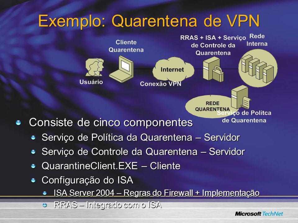 Exemplo: Quarentena de VPN