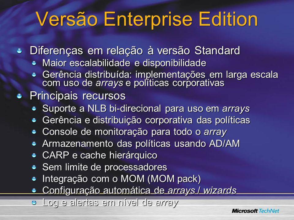 Versão Enterprise Edition