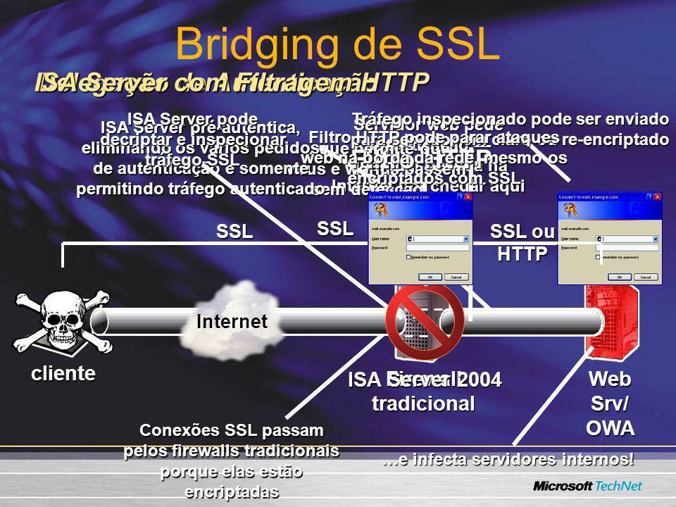 Bridging de SSL ISA Server com Filtragem HTTP