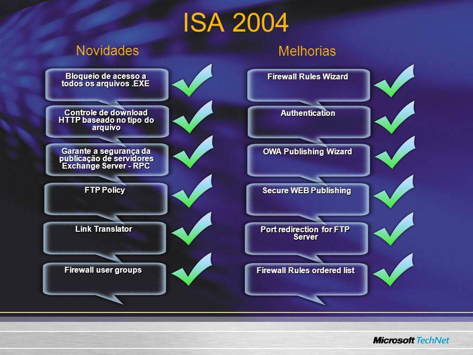 ISA 2004 Novidades Melhorias 3/24/2017 7:57 AM