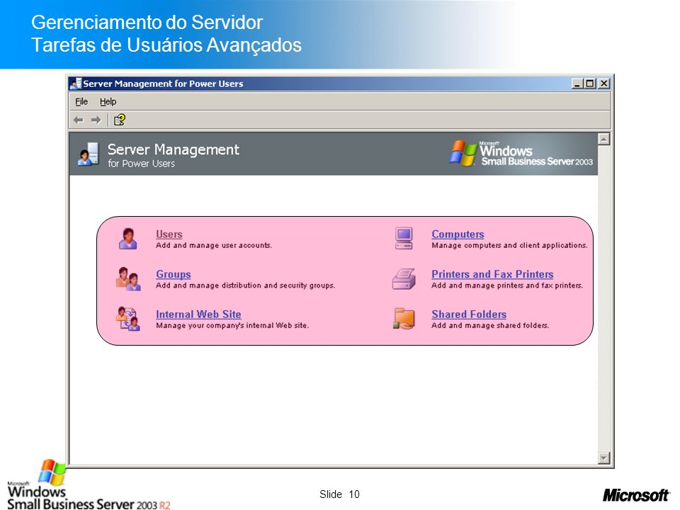 Gerenciamento do Servidor Tarefas de Usuários Avançados