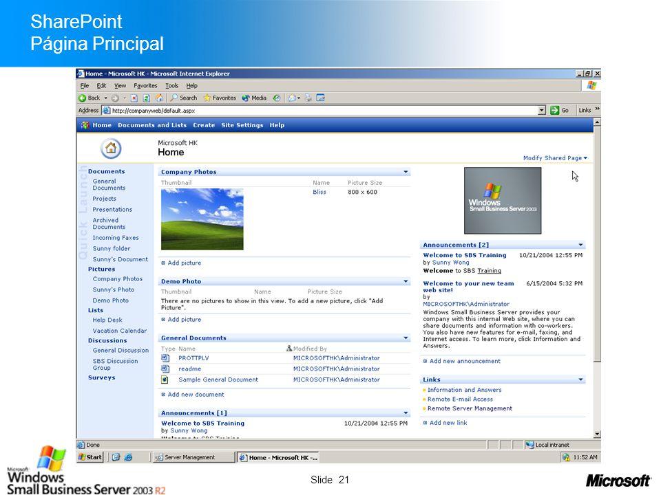 SharePoint Página Principal