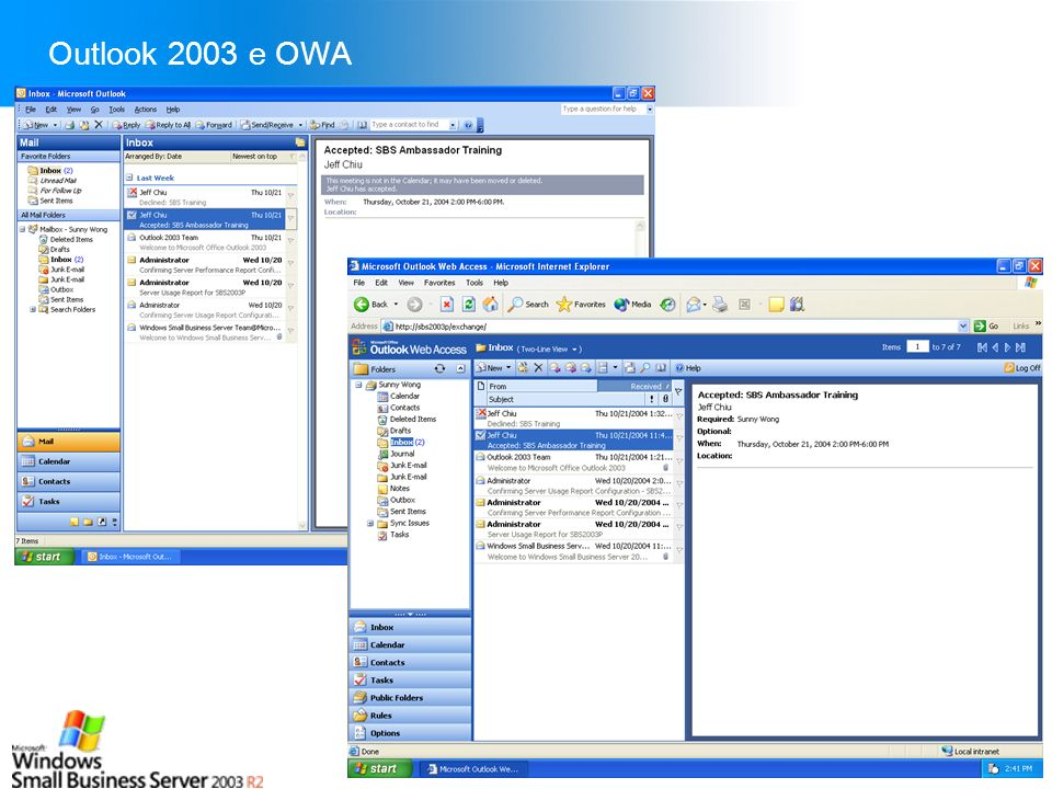 Outlook 2003 e OWA