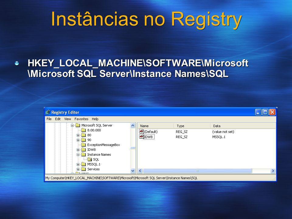 Instâncias no Registry