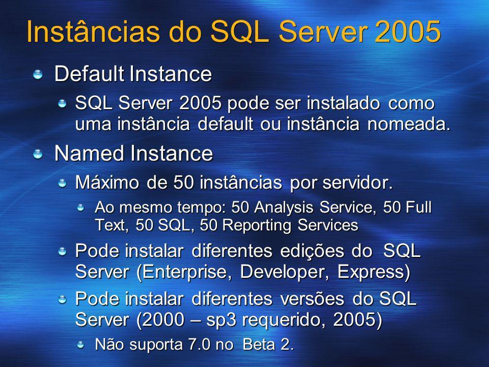 Instâncias do SQL Server 2005