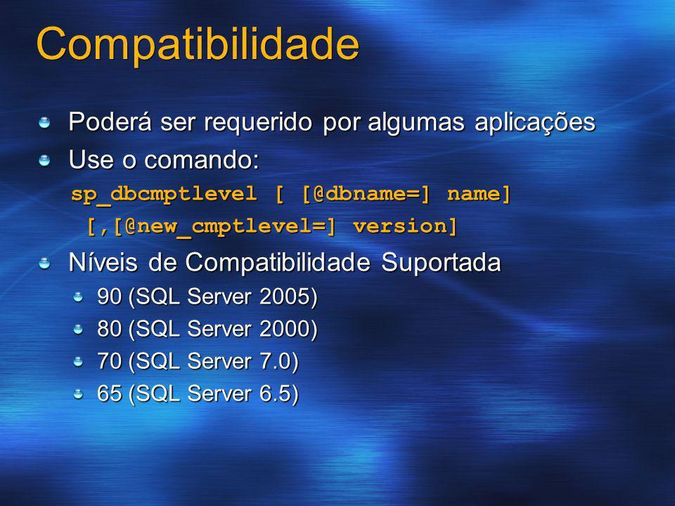 Compatibilidade Poderá ser requerido por algumas aplicações
