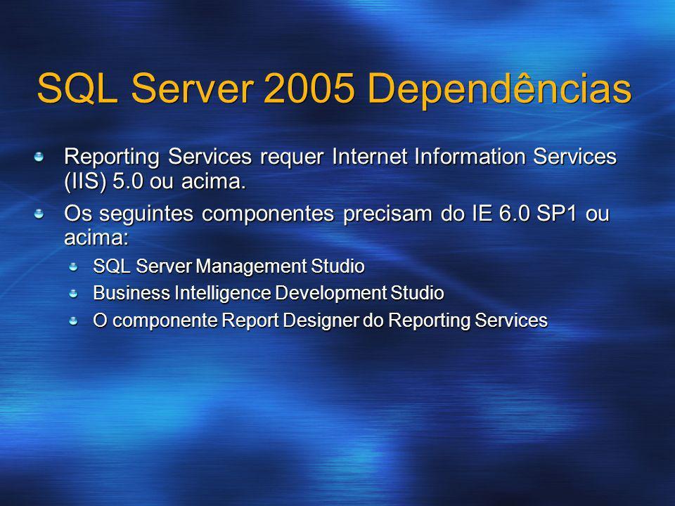 SQL Server 2005 Dependências
